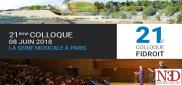 Colloque Fidroit 2018, c'est parti (N3D)