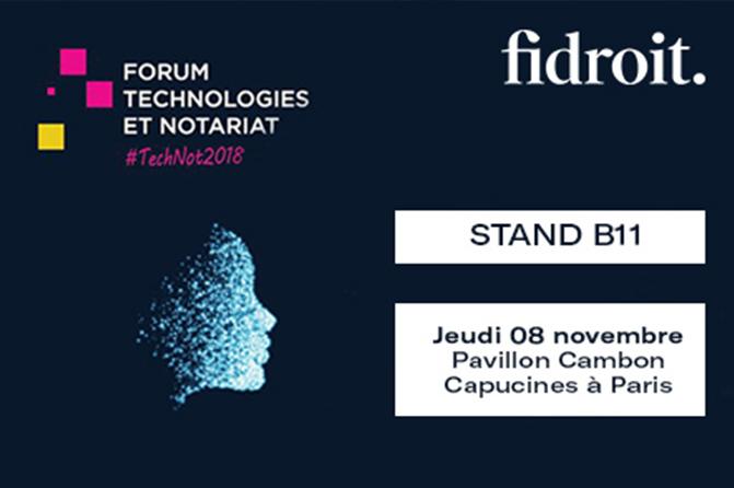 Forum technologies et notariat 2018